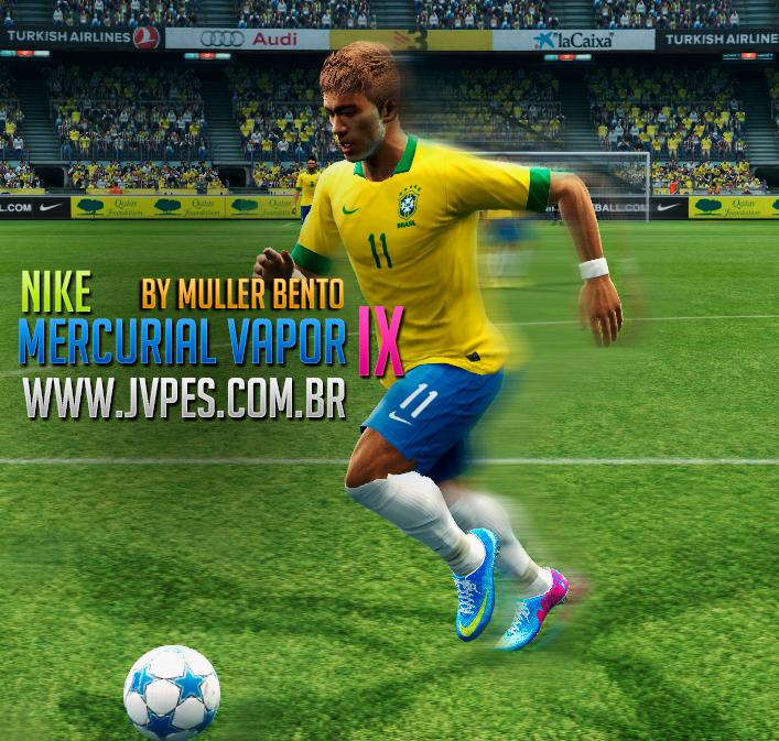 Winning Eleven Blog Brasil: PES 2013: Nike Mercurial Vapor IX azul HD: