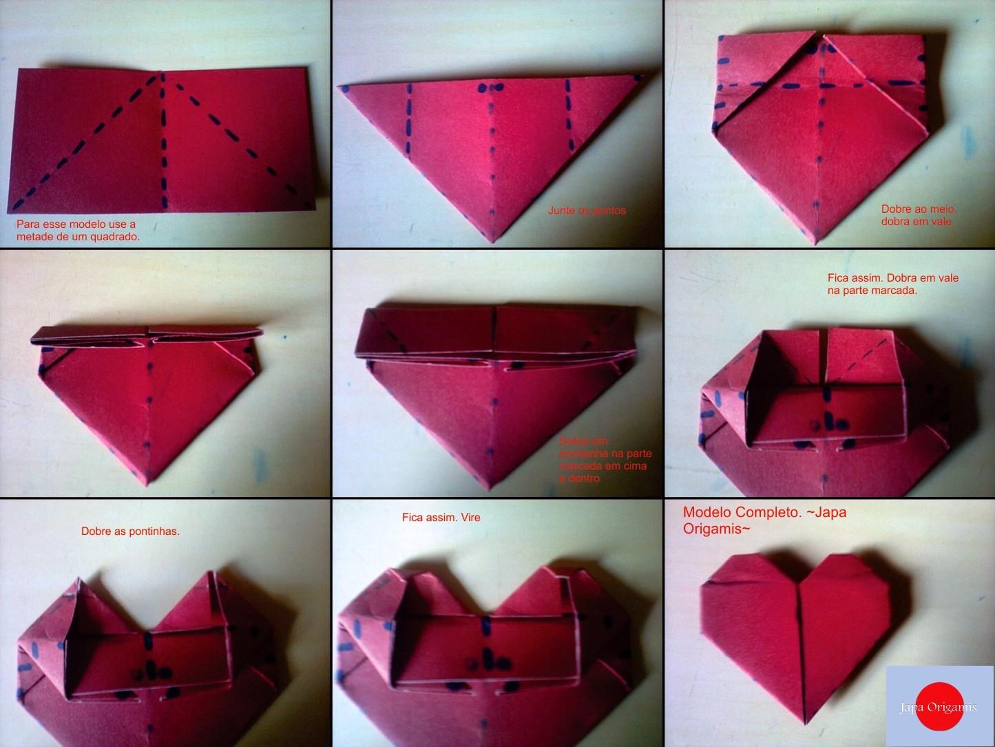 cora o de origami   como fazer japa origamis