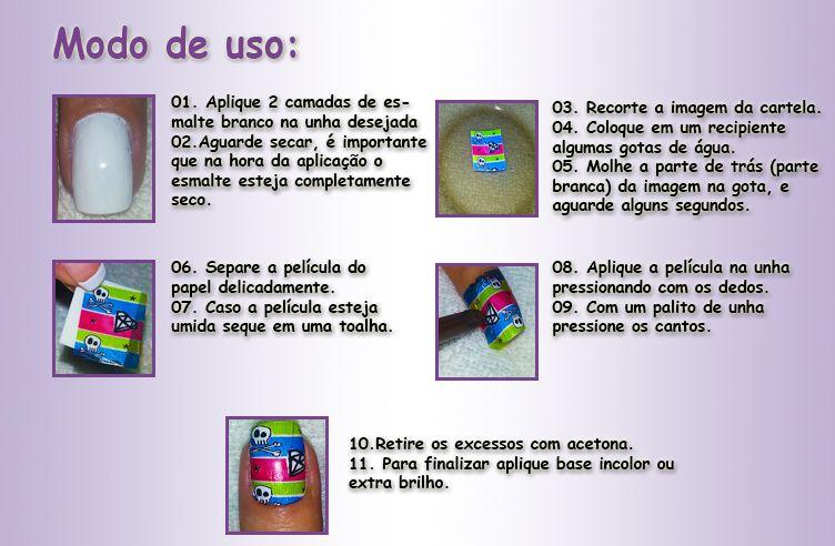 10 Cartelas \/120 Peliculas Adesivos De Unhas Frete Gratis (Esmaltes e ...