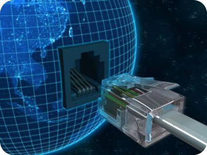 Ligação da internet com o Mundo