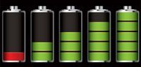 Níveis de carga da bateria