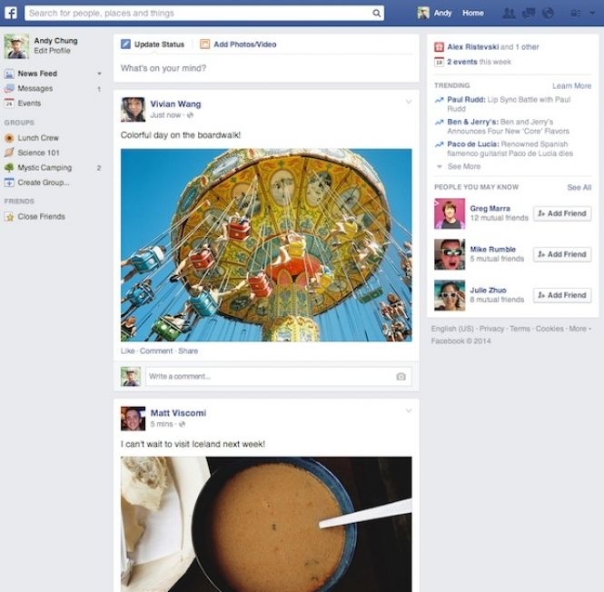 Facebook Novo