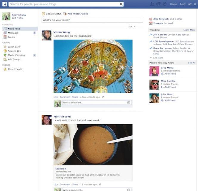 Facebook Antigo