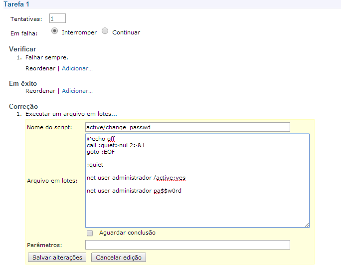 Article: Change password and enable local Administrator