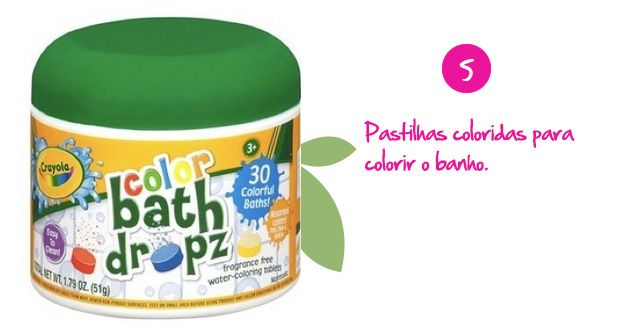 Pastilhas coloridas para colorir o banho