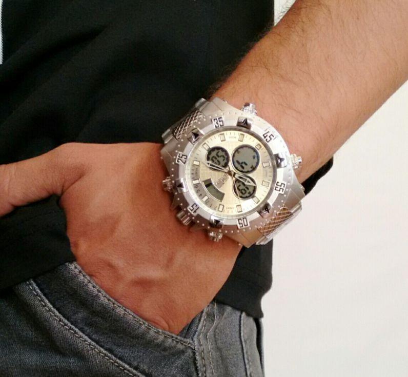 65861150a158a Carre4  Relógio Technos Masculino Prata Analógico 8205NM 1B ...