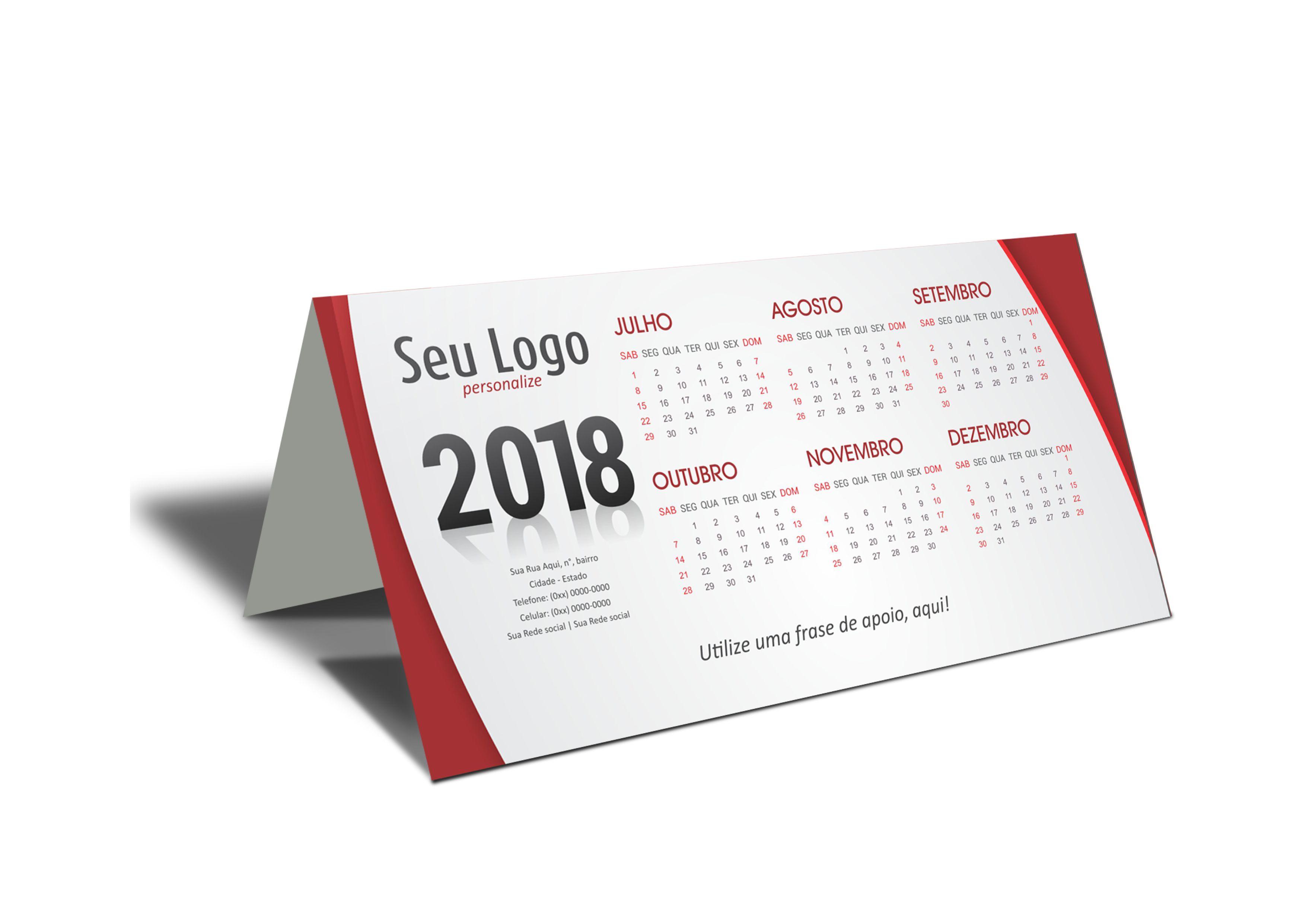 1000 unds calend rio de mesa 2018 personalizado pvc brinde r em mercado livre - Calendario de mesa ...