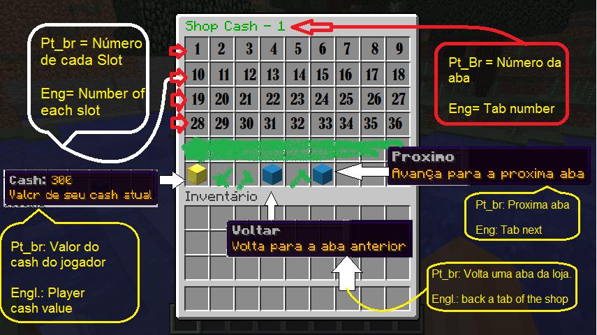 exemplo da loja cash