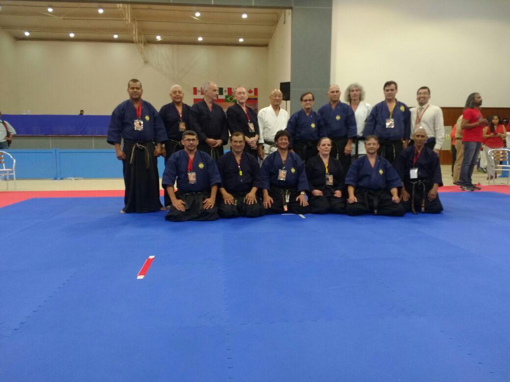 Sensei Genibaldo e a equipe de árbitros do CAMPEONATO PAN-AMERICANO