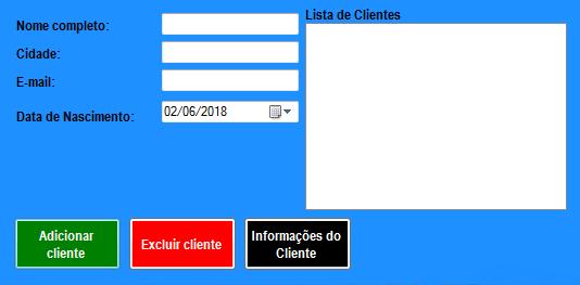 [TUTORIAL] SISTEMA SIMPLES DE CADASTRO DE CLIENTES - C#, VISUAL STUDIO Sem_t%C3%ADtulo