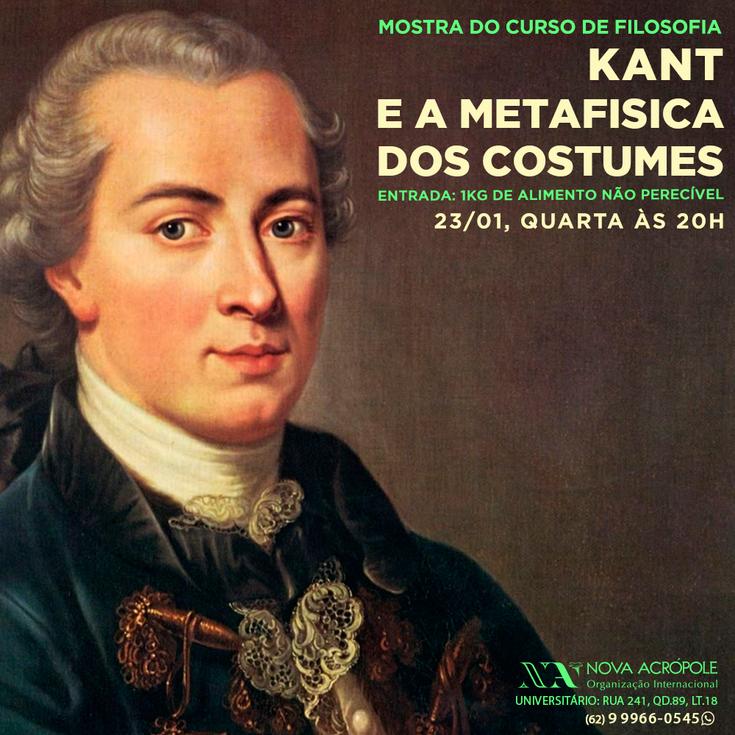 SEMANA CONHEÇA-TE A TI MESMO - Kant e a metafísica dos costumes