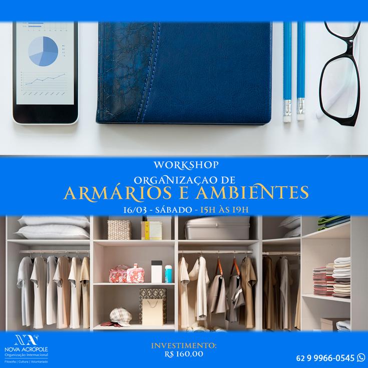 Workshop: Organização de armários e ambientes