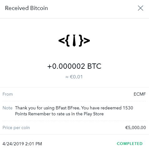 OPORTUNIDADE [Provado] BFast - Ganha bitcoin vendo videos ilimitados na coinbase instantaneamente! Bfast