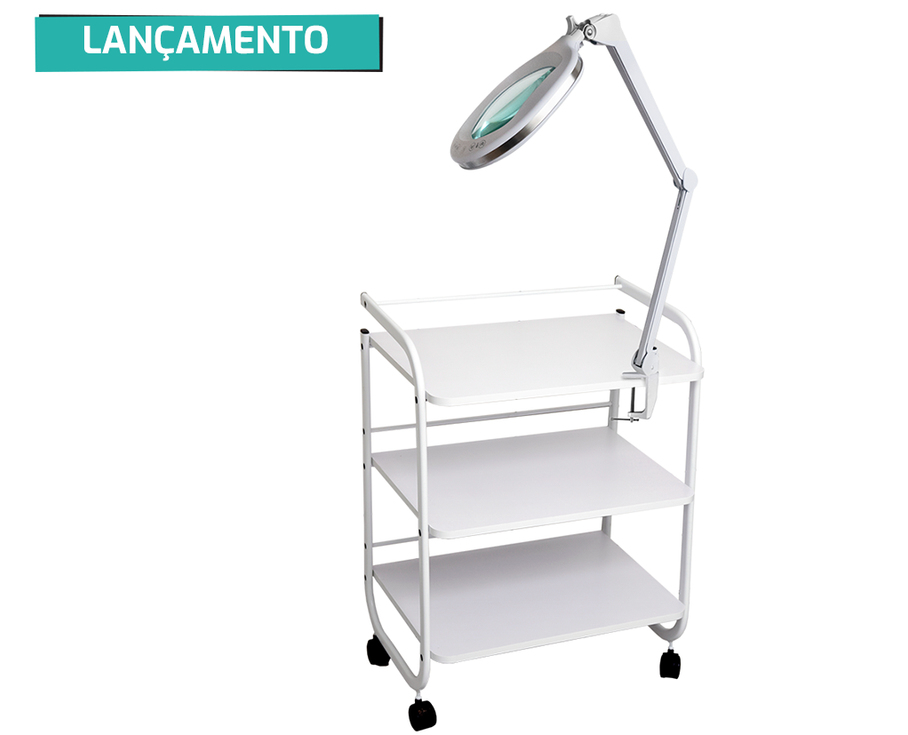 Lupa LED Duo Light Apoio de Mesa - Estek