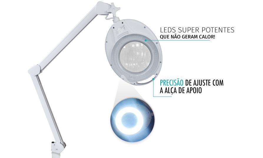 Lupa LED Round View Tripé - Estek