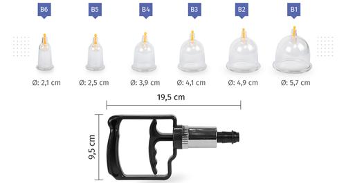 Kit de Ventosa de Acrílico 20 copos - ESTEK