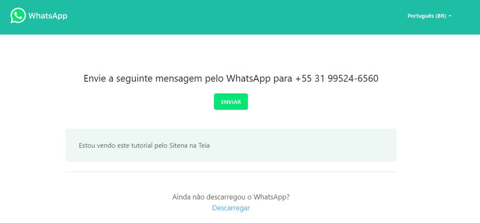 Botão de WhatsApp