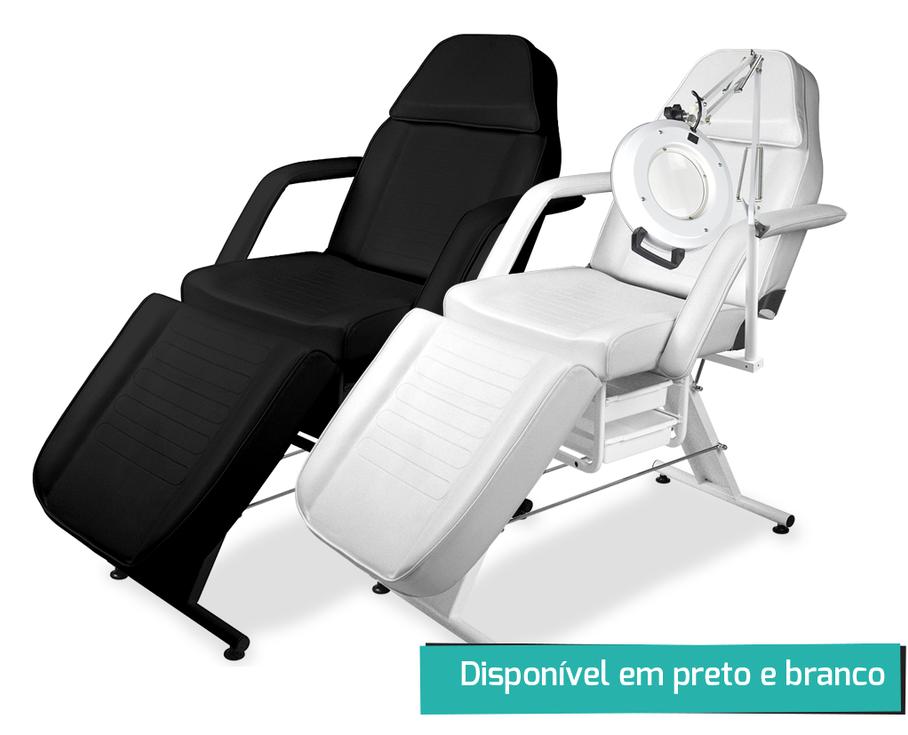 Maca Poltrona Fixa Luxo Estética com 2 Gavetas - Estek imagem inicio
