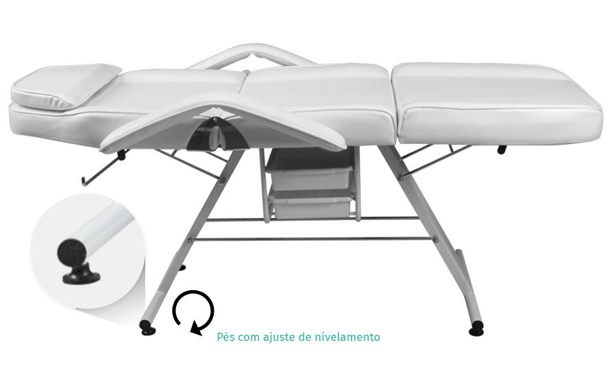 Maca Poltrona Fixa Luxo Estética com 2 Gavetas - Estek img2