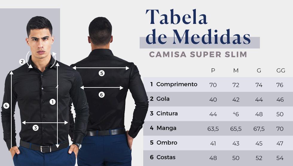 Camisa Social Super Slim