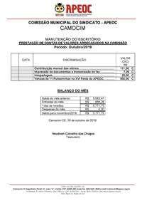 Prestação JANEIRO e FEVEREIRO