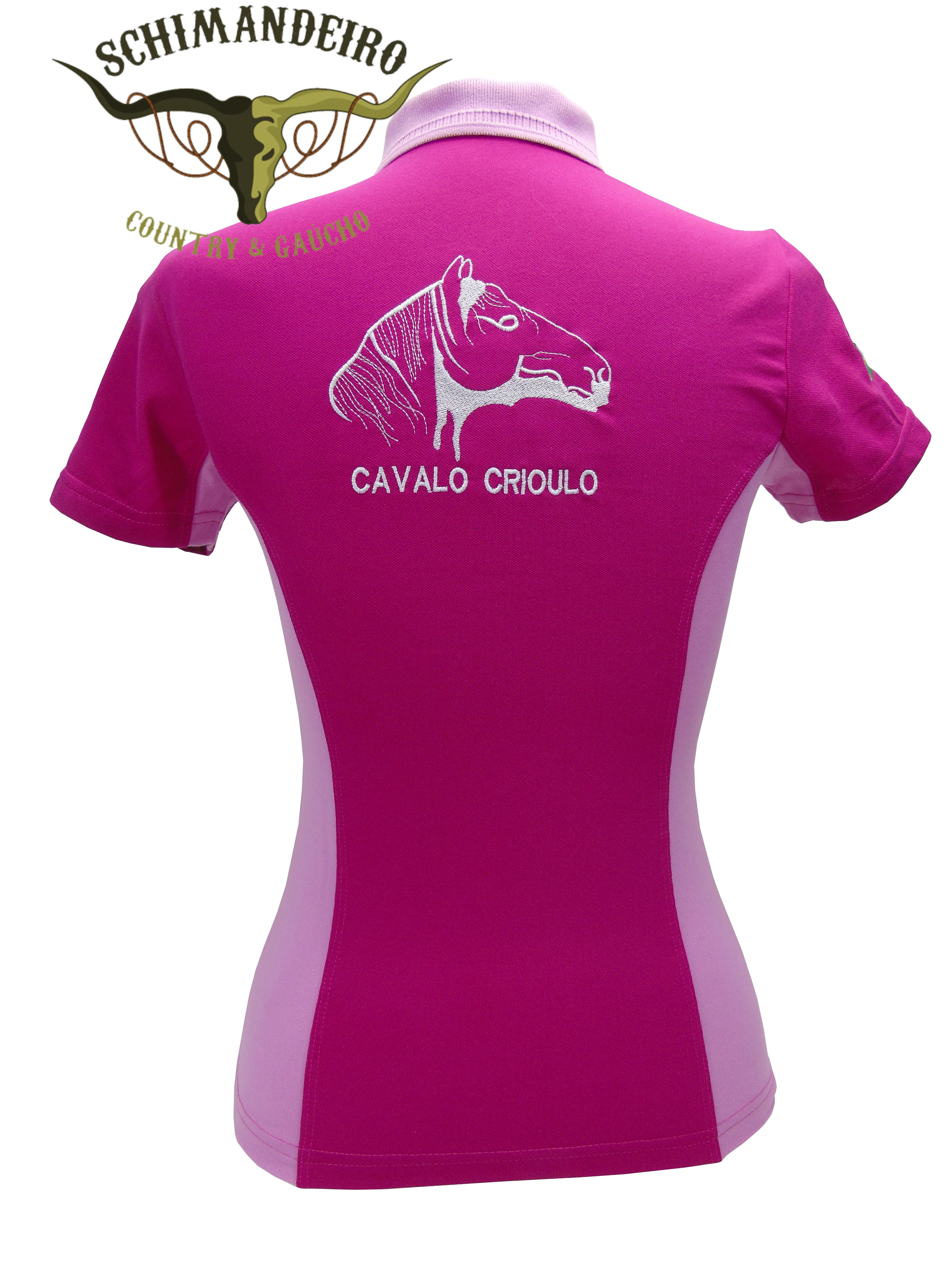 Polo Infantil Cavalo Crioulo Pink/rosa
