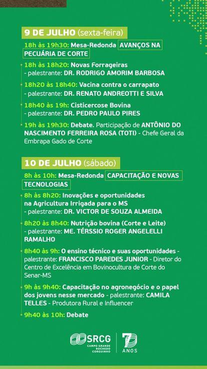 Eduardo Riedel, Tereza Cristina e Alexandre Garcia debatem o agro de MS - 70 anos do Sindicato Rural de Campo Grande 2